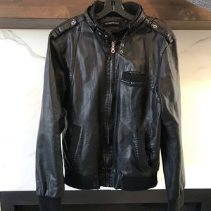 Other - Members Only Black Leather jacket size M